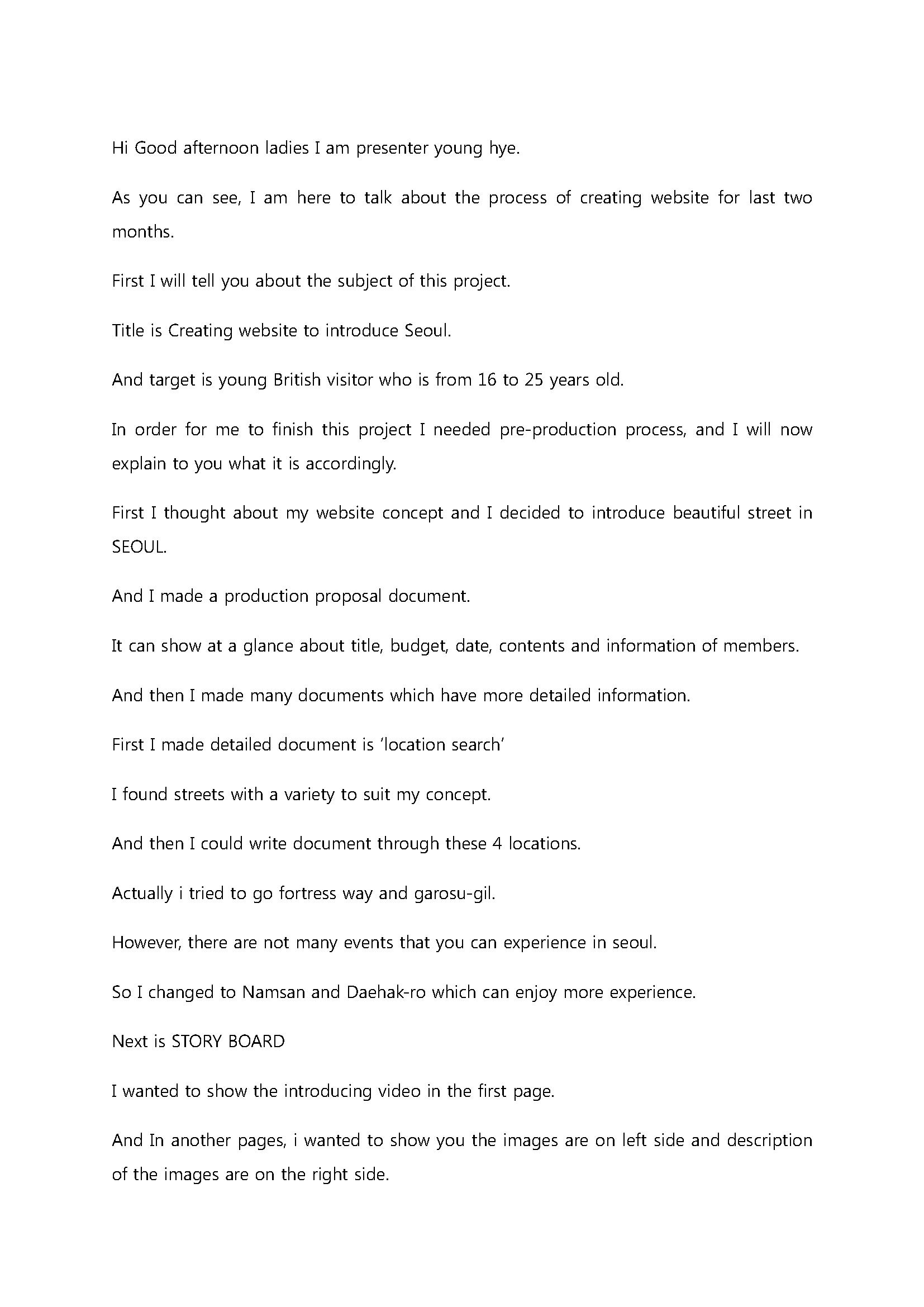 Script for presentation